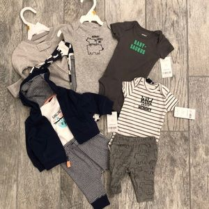 NWT Newborn Boy Carter's Onesies Outfits Jammies